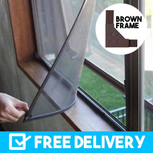 brown frame magnetic flyscreens buy online