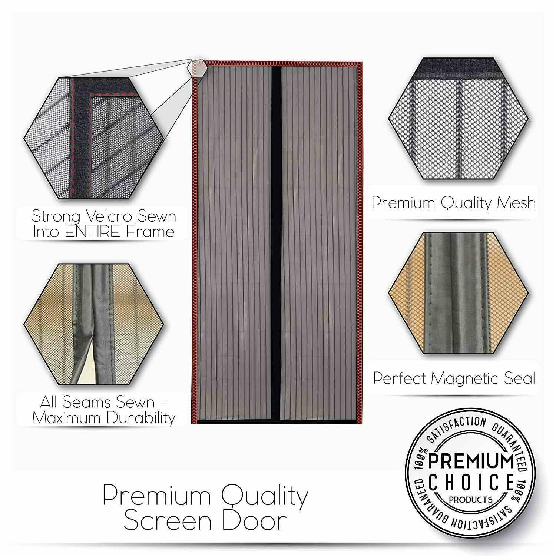 magnetic fly screen door curtain nz